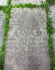 Memorial to John and Sarah Sutcliffe of Ovenden, St Mary's Church, Illingworth, West Yorkshire