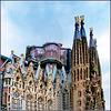 Barcellona : vista laterale della Sagrada Familia (lavori in corso)