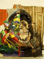 Half-thoughtful chimpanzee.