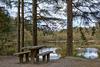 HBM  - Picnic bench at the lochan