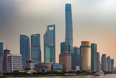 Skyline Pudong in Shanghai