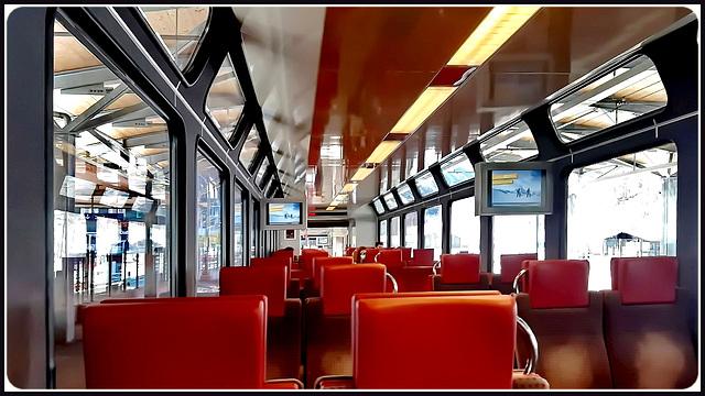 Zermatt : l'interno del treno svizzero