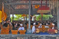 Gamelan orchestra in holy temple yard