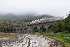 The Jacobite on the Loch nan Uamh viaduct