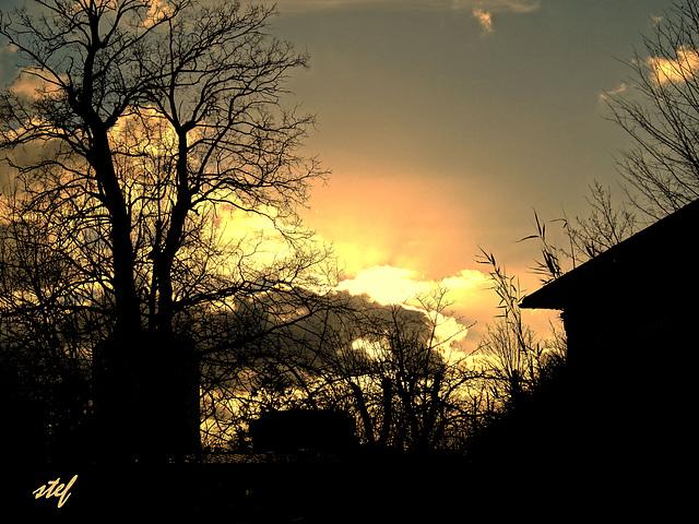 Sonnenuntergang im Februar