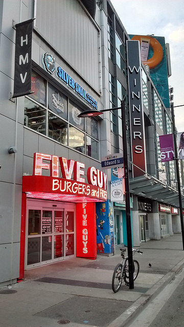 Five guys winners burgers