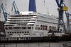 Kreuzfahrtschiff Oriana im Dock