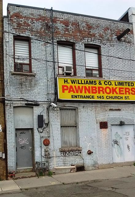 Pawnbrockers graffitis