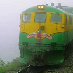 In the Fog on the White Pass & Yukon Route