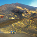 Wanderer in der Vulkanlandschaft am Ätna
