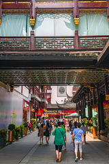 Pedestrian street in the Yuyuang garden