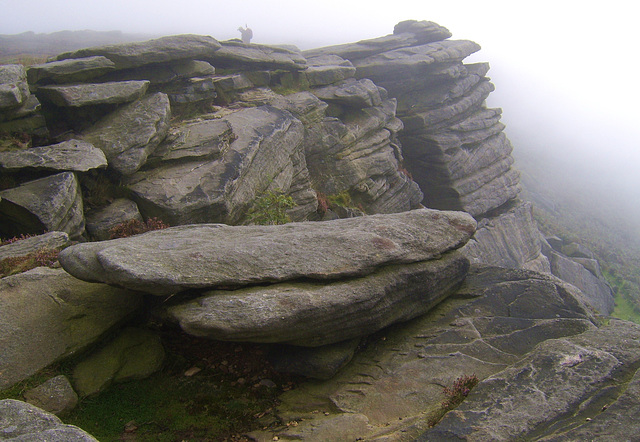 A Foggy Stanage Edge    /   Sept 2010