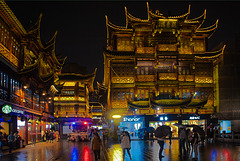 At night in Yuyuan garden