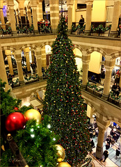 Christmas Tree in Magna Plaza, Amsterdam...
