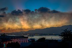 Weather capers over Santiago de Cuba