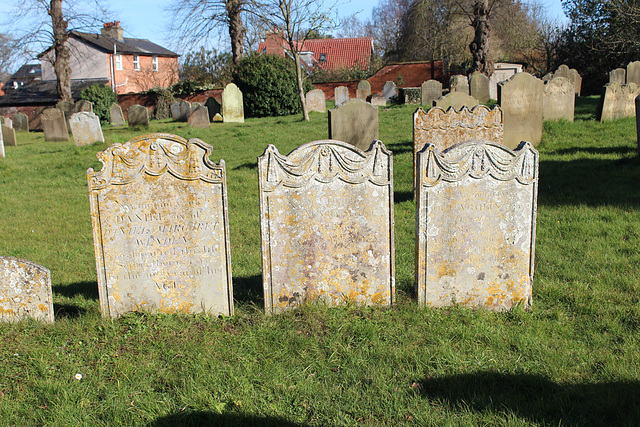 Memorials in Saint Peter's Churchyard, Yoxford, Suffolk