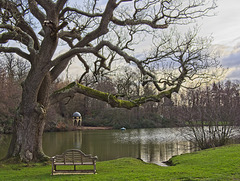 Benbow Pond - Bench and Folly