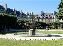Paris (75) 22 juin 2019. Place des Vosges.