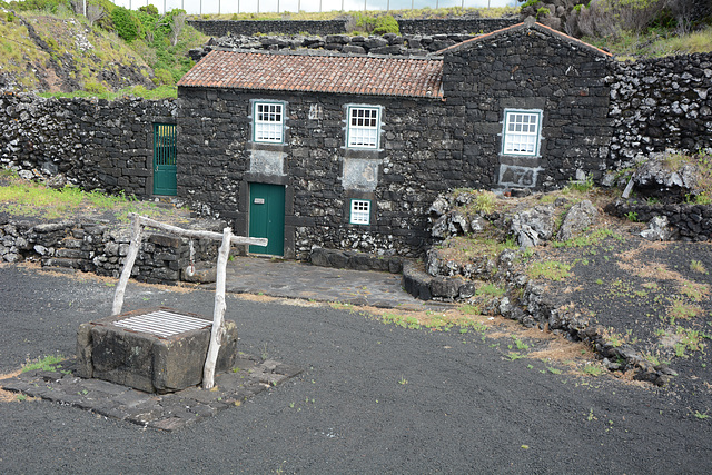 Azores, The Island of Pico, Typical Houses Built of Volcanic Lava Formation