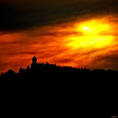 le château du Haut-Koenigsbourg un soir de réveillon