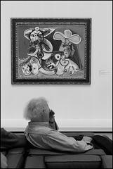 """""""Joueur de flûte et femme nue"""" (Pablo Picasso - 1970)"""