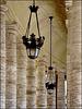 Roma : I lampioni nel Colonnato del Bernini