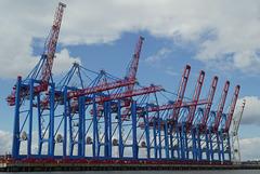 Hafenrundfahrt (4): Containerbrücken am Europakai