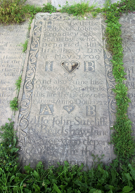 Memorial to John and Ann Broadley, St Mary's Church, Illingworth, West Yorkshire