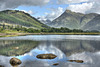 Lower Glen Etive across Loch Etive, Argyll, Scotland