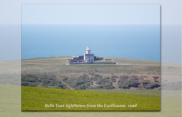 Belle Tout lighthouse from near East Dean - Sussex - 30.4.2015