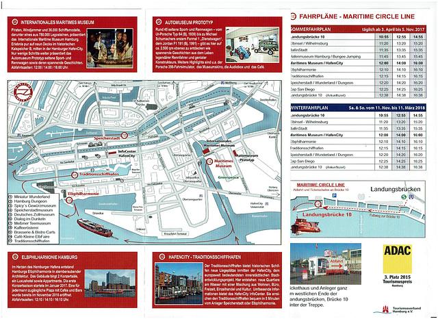 Hafenrundfahrt (2): Der Flyer mit dem Fahrplan