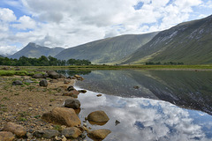 The river Etive enters the loch of the same name (plus x 1 PiP)