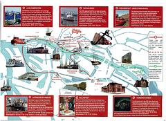 Hafenrundfahrt (1): Der Flyer mit den Stationen