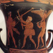 Detail of a South Italian Krater with a Procession in the Getty Villa, June 2016