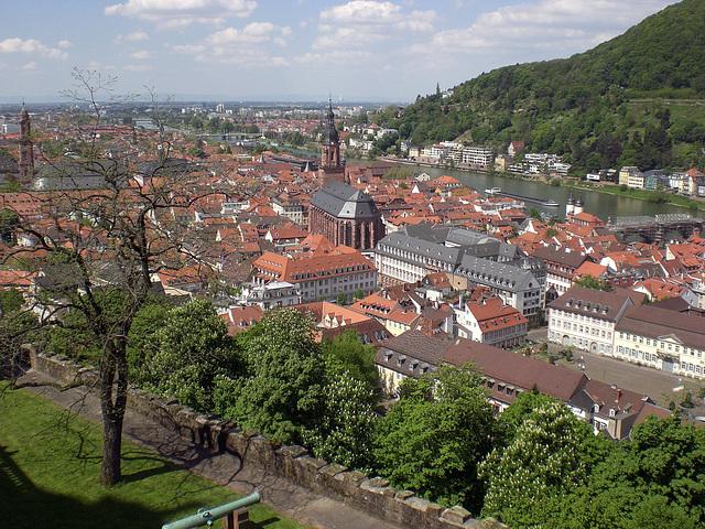 Blick über die Stadt richtung Hochrheinebene
