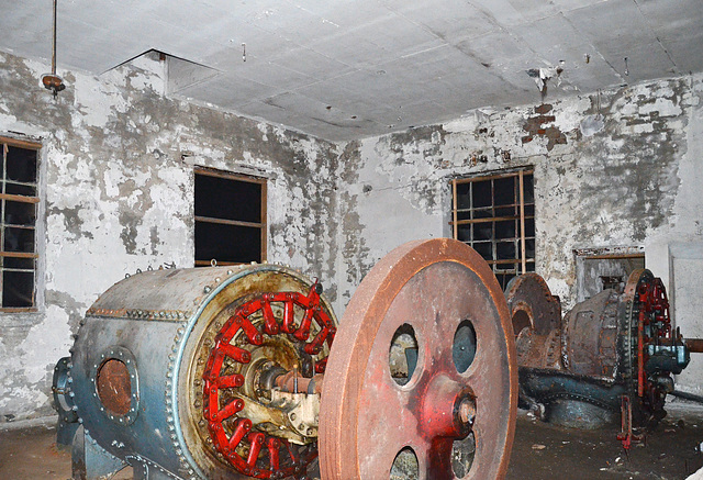 In the basement - abandoned machinery