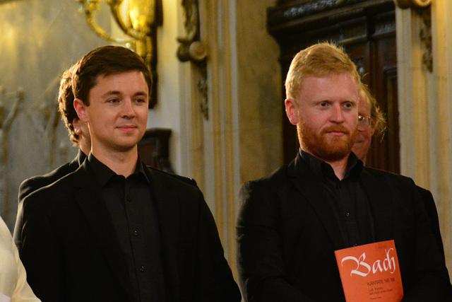 Leipzig 2015 – Two members of the Monteverdi choir