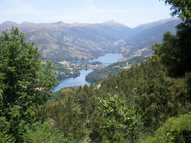 View to Caniçada Dam.