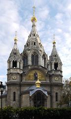 La ortodoksa katedralo A. Nevski en Parizo