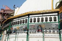 Kathmandu, Kathesimbu Stupa, Prayer Wheels