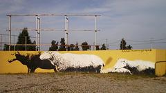 Sheep mural (I).
