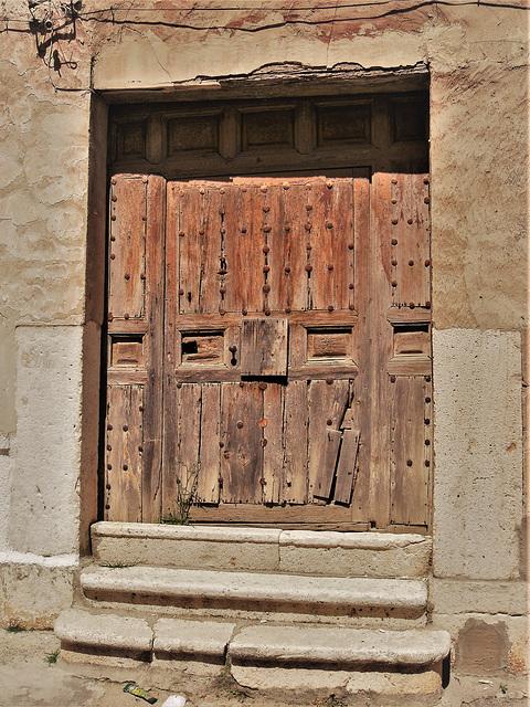 Old door and newer steps