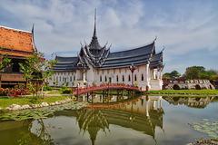 Replica of Sanphet Prasat palace from Ayutthaya in Muang Boran, Samut Phrakan, Thailand