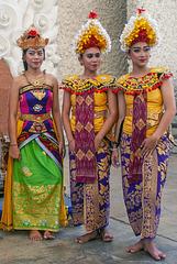 Flowergirls in Garuda Wisnu Kencana Park