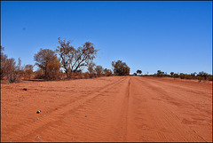 The road ahead….is endless….and infinitely dusty