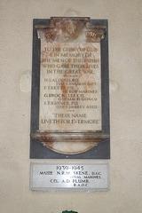 War Memorial, St George's Church, South Elmham St Cross, Suffolk