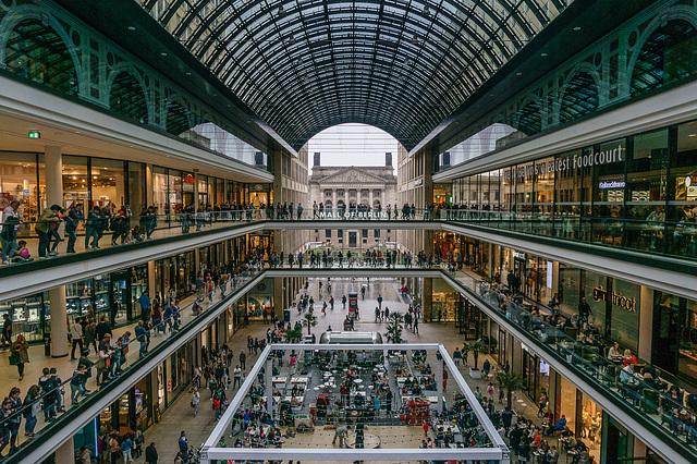Mall of Berlin at sunday