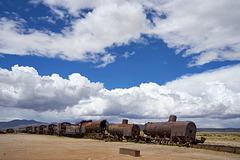 ca 120 year inactiv Steam locomotives ,Uyuni 3670 m.a.s.l._Bolivia