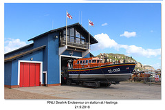 Hastings Lifeboat Sealink Endeavour - 21.9.2018