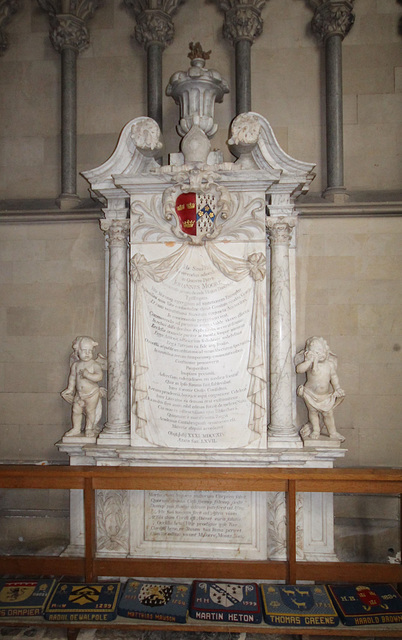Memorial to John Moore, Ely Cathedral, Cambridgeshire